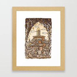 Fountain of happiness Framed Art Print