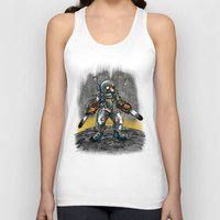 texas Tank Tops featuring Texas Chainsaw Astronaut by Nick Volkert