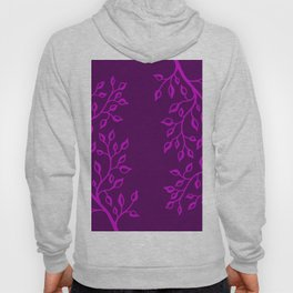 Purple leaves Hoody