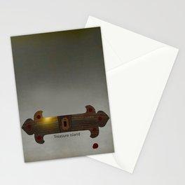 Treasure Island Minimal Poster Stationery Cards