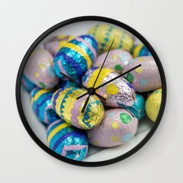 Easter Plate X Wall Clock