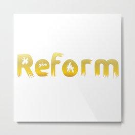 Reformed Letter Form Metal Print