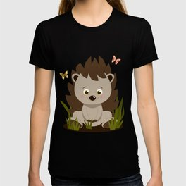 Hedgehog nursery baby art T-shirt