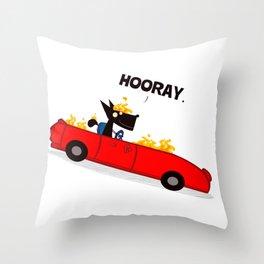I'M IN A CAR / Borderline Bill Throw Pillow