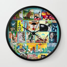 Alphabet City Wall Clock