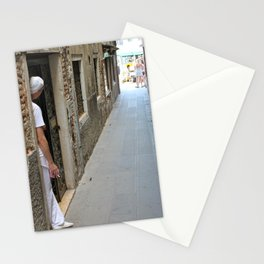 Unknown Faces In Different Places (Pt 11 - Venezia, Italia) Stationery Cards