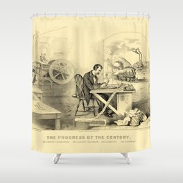 The Progress of the Century (Currier & Ives) Shower Curtain