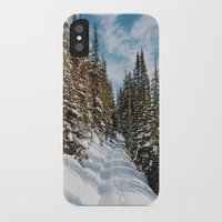 agnes cecile iPhone & iPod Cases featuring Lake Agnes Trail by Dan Grady