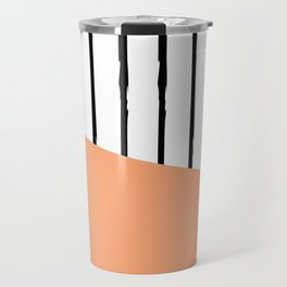 Grunge black stripes Travel Mug