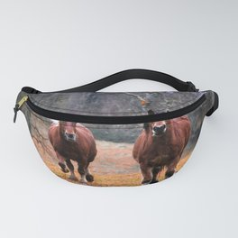Wild Horses Running Free Fanny Pack