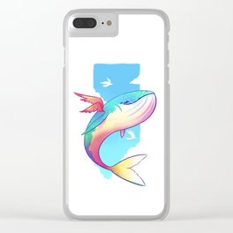 The Sky Whale Clear iPhone Case
