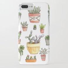 Potted Succulents Slim Case iPhone 7 Plus
