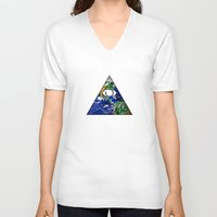 all seeing eye V-neck T-shirts featuring All Seeing Eye by Spooky Dooky