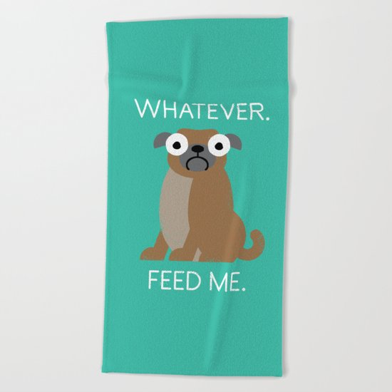 The Pugly Truth Beach Towel