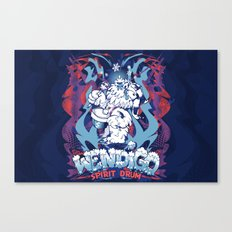 WENDIGO Spirit Drum Canvas Print