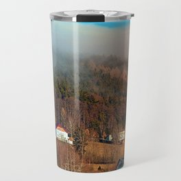 Clouds over the mountains | landscape photography Travel Mug