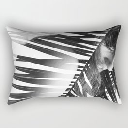 Double Exposure Portrait Rectangular Pillow
