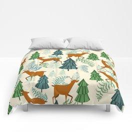 Deers in the forest Comforters