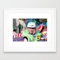 buzz lightyear Framed Art Prints featuring Lady Buzz Lightyear by The Bearded Monkey