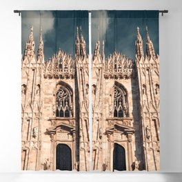 Milan Cathedral, Duomo di Milano, Gothic church, Lombardy, Milan photography Blackout Curtain