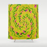 fabric Shower Curtains featuring Fabric R by Vitta