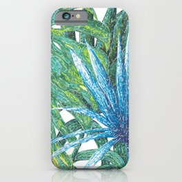 Philodendron & Flora iPhone Case