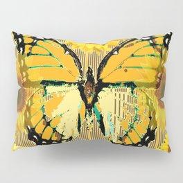 NUT & PUTTY COLORED YELLOW SUNFLOWERS ART Pillow Sham