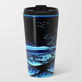 The Sea at Satta : Blue Travel Mug