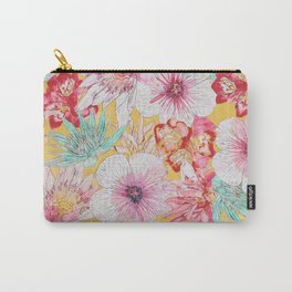 Pastel Floral Print Carry-All Pouch