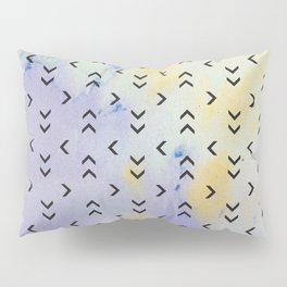 Watercolor Arrow Pattern Pillow Sham