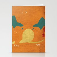 charizard Stationery Cards featuring Charizard by JHTY