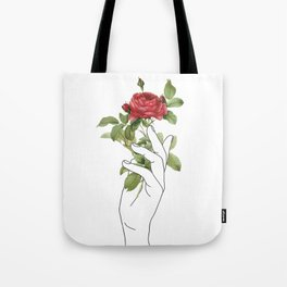Flower in the Hand Tote Bag