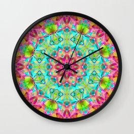 kaleidoscope Flower Abstract G119 Wall Clock