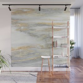 White Gold Marble Texture Wall Mural
