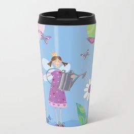Fairy in the Garden Metal Travel Mug