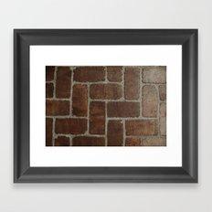 Brick Pattern in Spain Framed Art Print