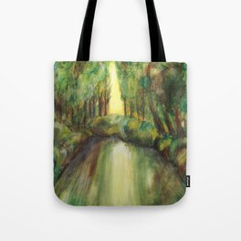 Trees and creek - Original painting Tote Bag