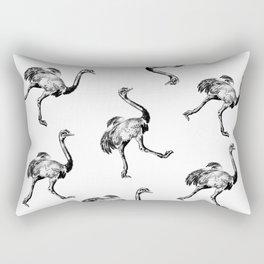 Running ostrich Rectangular Pillow