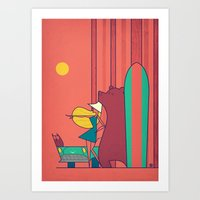 surf Art Prints featuring SURF by Ale Giorgini