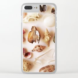 Gull Skull with Plastic Princess Clear iPhone Case