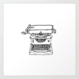 words per minute Art Print