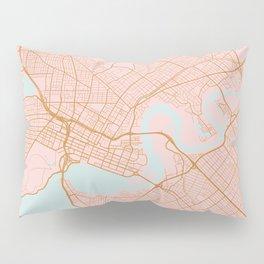 Pink and gold Perth map, Australia Pillow Sham