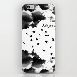 let's go away iPhone Skin