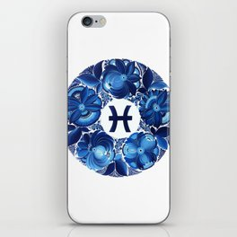 Pisces in Petrykivka style (without artist's signature/date) iPhone Skin