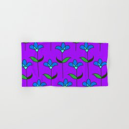 Genevieve - Purple and Blue Hand & Bath Towel