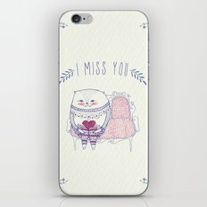 waiting cat iPhone & iPod Skin