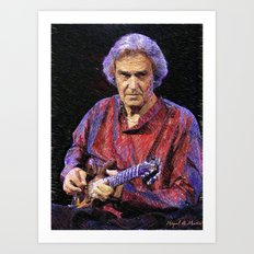 Awesome guitar player Art Print