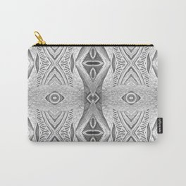 Art Deco Silver Peacocks Carry-All Pouch