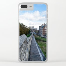 A walk along the wall Clear iPhone Case