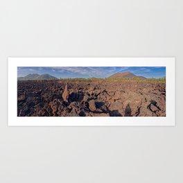 Panorama Sunset Crater from the Bonito Lava Field Arizona Art Print